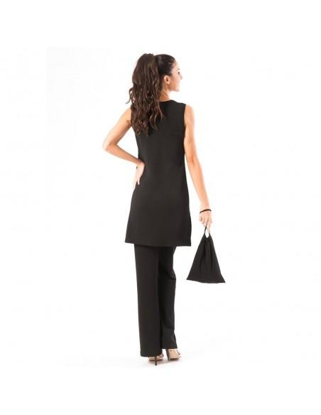 Suit V Neck sleeveless essential dress + shawl