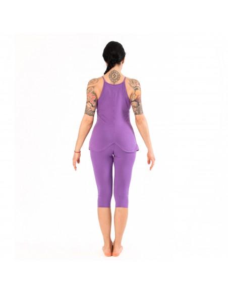 Legging Yoga Corto Viola - Linea Chakra
