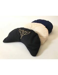 Cuscino a mezzaluna grande con imbottitura di pula di grano saraceno bio - Yoga e meditazione