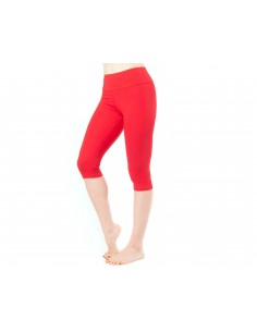 High-waist Red capri Yoga short Leggings MULADHARA - Chakra