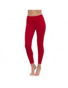 Cintura alta - Leggings largos de yoga rojos MULADHARA - Chakra