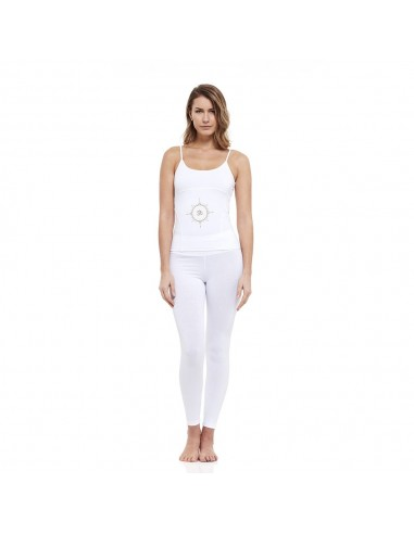 Outfit: young yoga top + high waist yoga leggings (white)