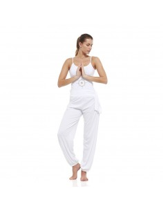 Outfit: young yoga top + harem pants (white)