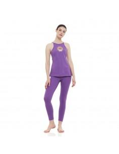 Completo Sahasrara: canotta yoga shasrara + legging vita alta sahasrara (ametista)