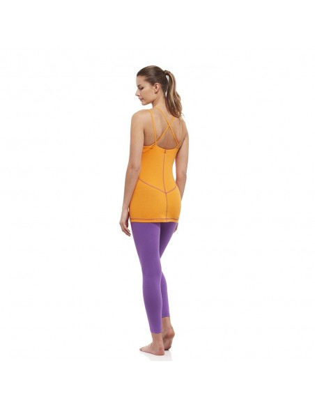Completo: canotta yoga svadishtana + legging vita alta sahasrara (ametista)