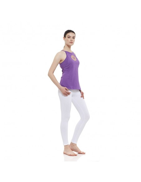 Outfit: sahasrara yoga top + high waist yoga leggings (white)