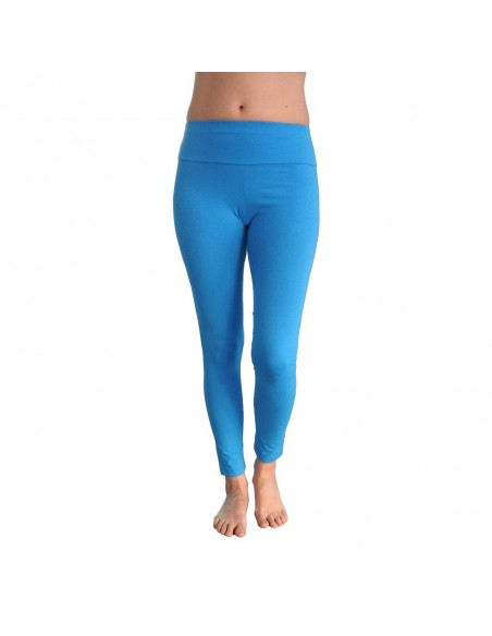 Leggings Yoga Lungo Fascia Alta Turchese VISHUDDHA - Chakra