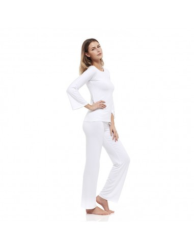 Completo Relax Bianco: Maglia Barchetta + Pantaloni
