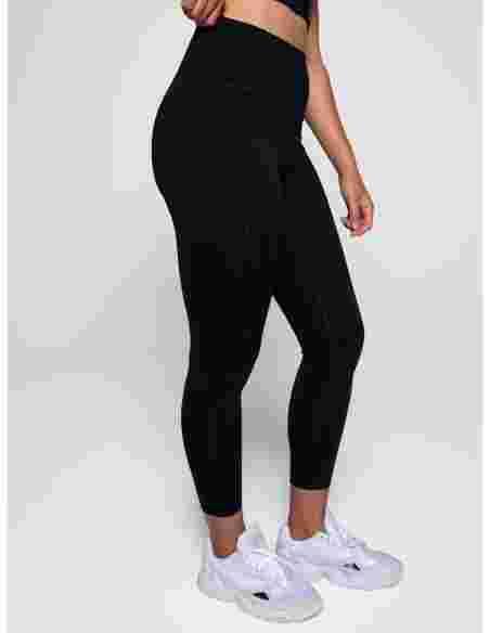 Compressive High-Rise Legging - Long (Black)